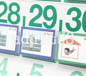 ビニールポケットカレンダー用絵カード  自閉症 発達障害 スケジュール 視覚支援 イラスト
