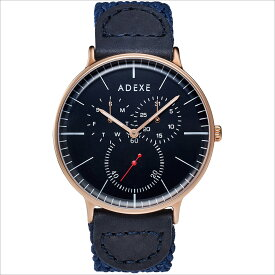ADEXE (アデクス) 1868A-08 ユニセックス 腕時計 GRANDE (グランデ) 41mm ローズゴールド ダークブルー ギフト インスタ映えマスト! ADEXE (アデクス)