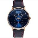 ADEXE (アデクス) 1868C-02 ユニセックス 腕時計 GRANDE (グランデ) 41mm ローズゴールド ネイビー ギフト インス…