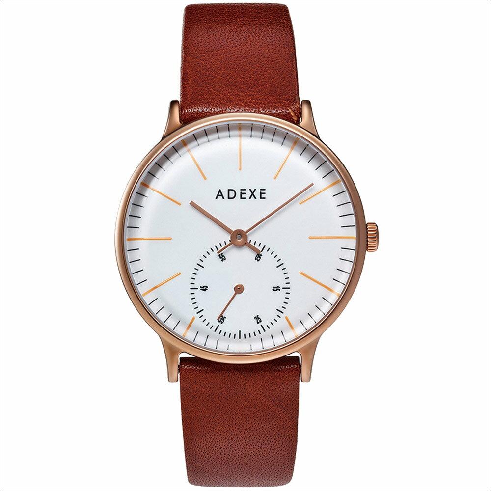 ADEXE (アデクス) 1870A-05 ユニセックス 腕時計 PETITE (プチ) 33mm ローズゴールド ホワイト ブラウン ギフト インスタ映えマスト! ADEXE (アデクス)