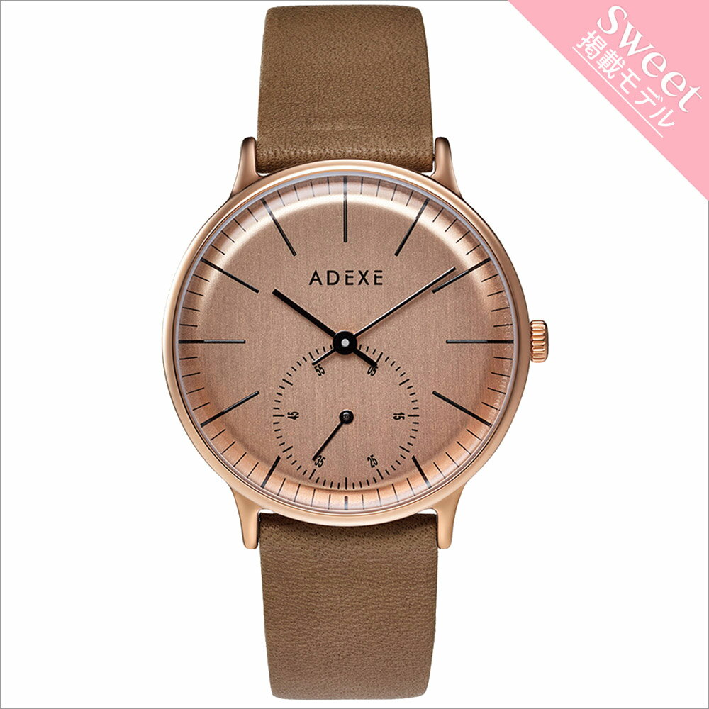 ADEXE (アデクス) 1870A-06 ユニセックス 腕時計 PETITE (プチ) 33mm ローズゴールド ベージュ ギフト インスタ映えマスト! ADEXE (アデクス)