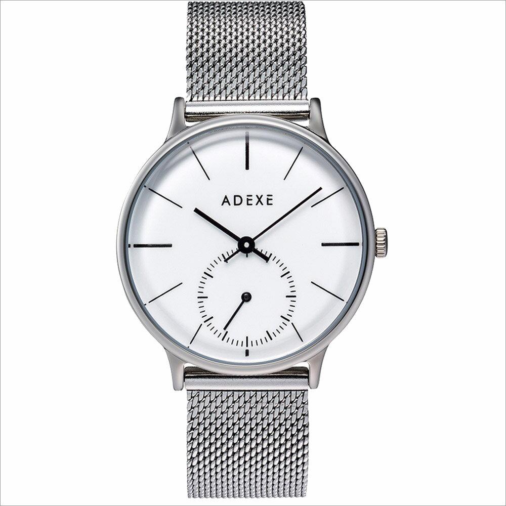 ADEXE (アデクス) 1870B-01 ユニセックス 腕時計 PETITE (プチ) 33mm シルバー ホワイト メッシュ ギフト インスタ映えマスト! ADEXE (アデクス)