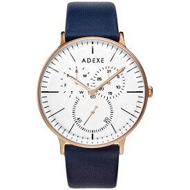 ADEXE (アデクス) 1868A-T01 ユニセックス 腕時計 GRANDE (グランデ) 41mm ローズゴールド ホワイト ネイビー ギフト インスタ映えマスト! ADEXE (アデクス)