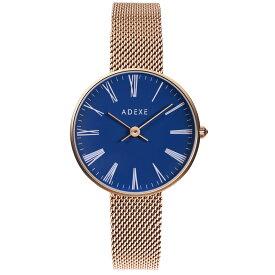ADEXE (アデクス) ラグジュアリーライン 2503M-06 ユニセックス 腕時計 PETITE (プチ) 30mm ローズゴールド ネイビー ギフト Instagram インスタ映えマスト! ADEXE (アデクス)