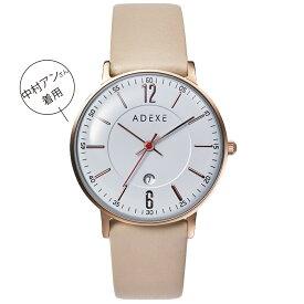 ADEXE (アデクス) 2043B-T04 ユニセックス 腕時計 PETITE (プチ) 33mm ローズゴールド ホワイト モカ ギフト インスタ映えマスト! ADEXE (アデクス)