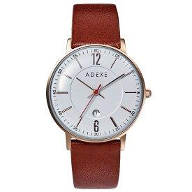 ADEXE (アデクス) 2043B-T04-JP19SP2 ユニセックス 腕時計 PETITE (プチ) 33mm ローズゴールド ホワイト ブラウン ギフト インスタ映えマスト! ADEXE (アデクス)