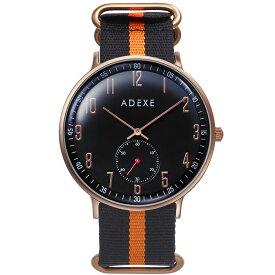 ADEXE (アデクス) 2045A-05-JP19SP ユニセックス 腕時計 GRANDE (グランデ) 41mm ローズゴールド ダークブルー NATOタイプナイロン ブラック オレンジ ギフト インスタ映えマスト! ADEXE (アデクス)