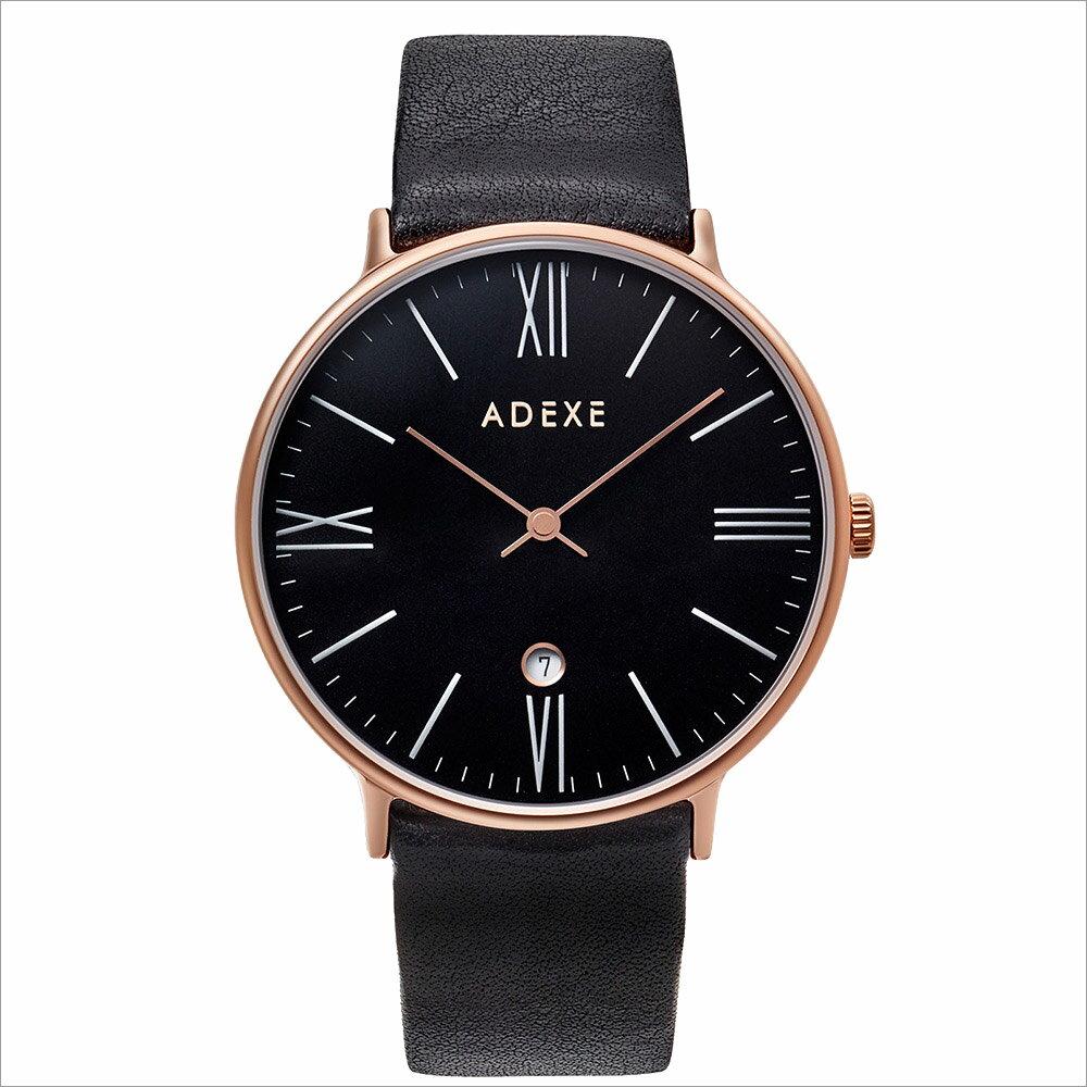 ADEXE (アデクス) 1890B-04 ユニセックス 腕時計 GRANDE (グランデ) 41mm ローズゴールド ブラック ギフト インスタ映えマスト! ADEXE (アデクス)