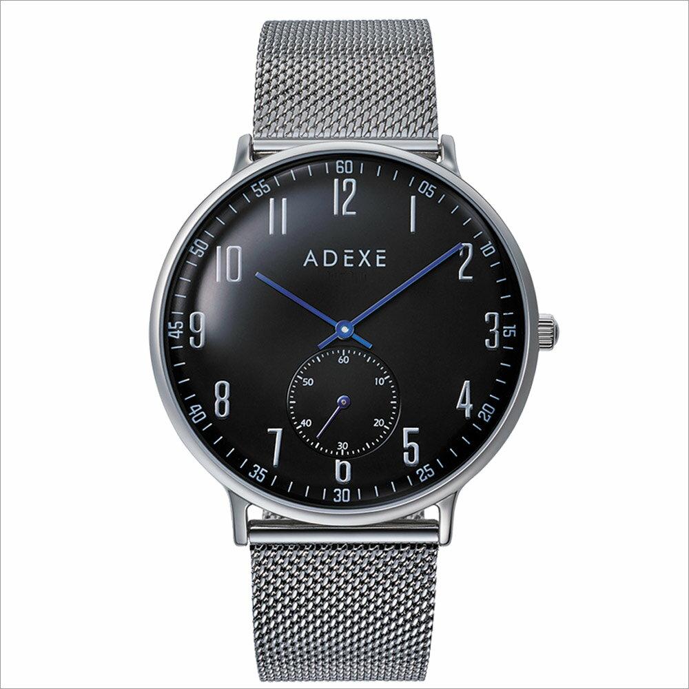 ADEXE (アデクス) 2045A-06 ユニセックス 腕時計 GRANDE (グランデ) 41mm シルバー ブラック ギフト インスタ映えマスト! ADEXE (アデクス)