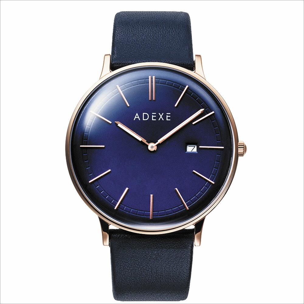 ADEXE (アデクス)2046A-04 ユニセックス 腕時計 GRANDE (グランデ) 41mm ローズゴールド ダークブルー ネイビー ギフト インスタ映えマスト! ADEXE (アデクス)
