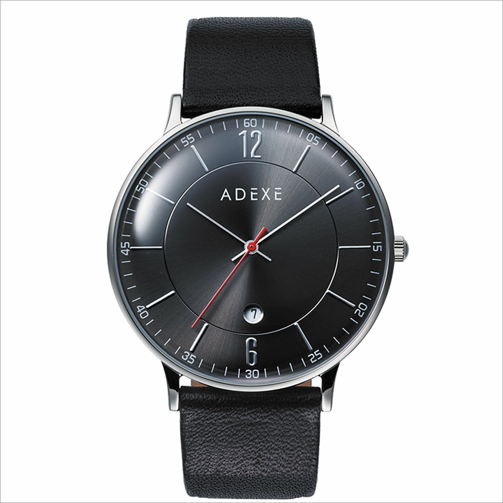 ADEXE (アデクス)2046B-04 ユニセックス 腕時計 GRANDE (グランデ) 41mm シルバー ガンメタリック ブラック ギフト インスタ映えマスト! ADEXE (アデクス)