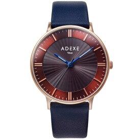 ADEXE (アデクス)1868I-02 ユニセックス 腕時計 ソーラー バッテリー GRANDE (グランデ) Lightworker (ライトワーカー) 41mm ローズゴールド ダークブラウン ネイビー ギフト インスタ映えマスト! ADEXE (アデクス)