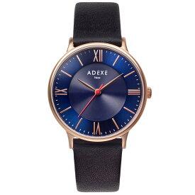 ADEXE (アデクス)1870E-02 ユニセックス 腕時計 ソーラー バッテリー PETITE (プチ) Lightworker (ライトワーカー) 33mm ローズゴールド ブルー ブラック ギフト インスタ映えマスト! ADEXE (アデクス)