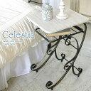 【代引可】ナイトテーブル Celestia(セレスティア) 幅35×奥行き40×高さ60cm 木目柄塩化ビニール貼りMDF スチール …