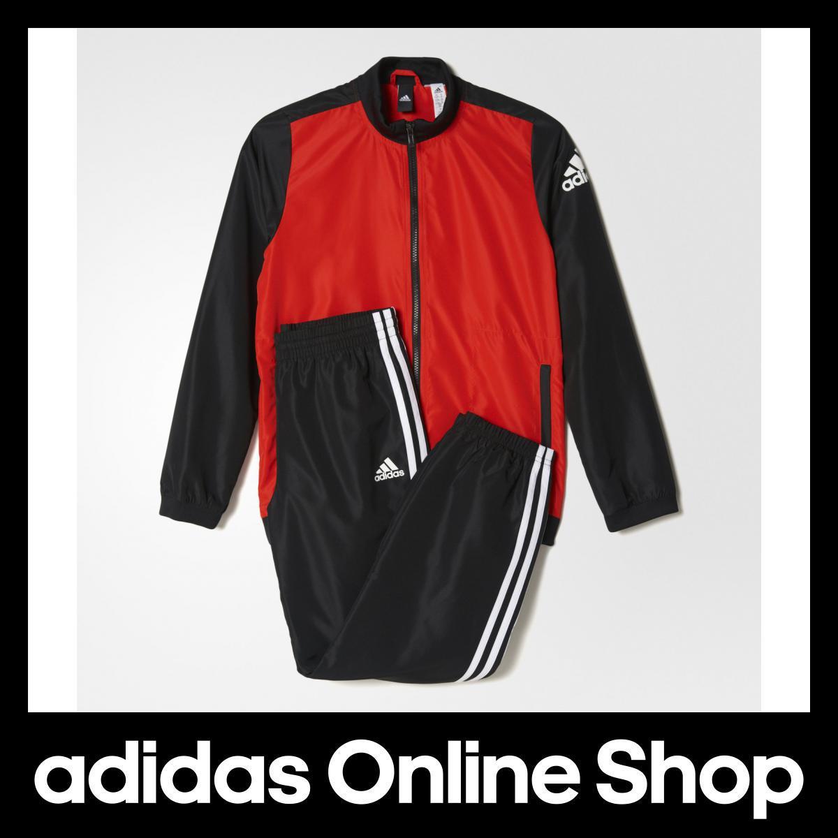 【公式】アディダス adidas Boys ウーブントラックスーツ上下セット (ジョガーパンツ) キッズ BQ3010 ウェア ウィンドブレーカー ボーイ アパレル ポリエステル プレーンウィーブ