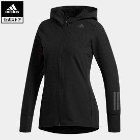 【公式】アディダス adidas 返品可 ランニング RESPONSEフード付ソフトシェルジャケットW レディース ウェア・服 アウター ジャケット 黒 ブラック CZ3519 ランニングウェア