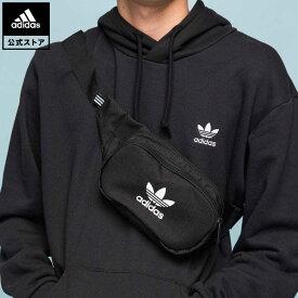 【公式】アディダス adidas 返品可 ESSENTIAL CROSS BODY オリジナルス レディース メンズ アクセサリー バッグ・カバン ウエストバッグ(ウエストポーチ) 黒 ブラック DV2400 ウエストポーチ ボディバッグ