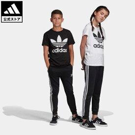 【公式】アディダス adidas 返品可 トレフォイルパンツ オリジナルス キッズ ウェア・服 ボトムス パンツ 黒 ブラック DV2872