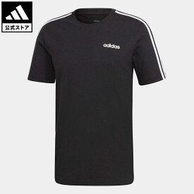 【公式】アディダス adidas 返品可 M CORE 3ストライプス Tシャツ メンズ ウェア・服 トップス Tシャツ 黒 ブラック DQ3113 半袖