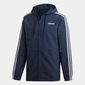 【公式】アディダス adidas 3ストライプス ウインドフルジップパーカー メンズ ウェア アウター ジャケット 青 ブルー DU0461