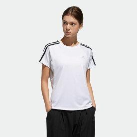 【公式】アディダス adidas 定番3ストライプ半袖Tシャツ レディース ジム・トレーニング ウェア トップス Tシャツ DV2246 p1017