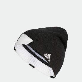 【公式】アディダス adidas ゴルフ ボールドストライプリバーシブルビーニー【ゴルフ】 メンズ アクセサリー 帽子 ニット帽/ビーニー 黒 ブラック U31570