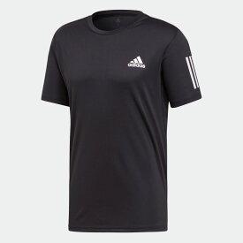 【公式】アディダス adidas テニス スリーストライプス クラブ Tシャツ [3-Stripes Club Tee] メンズ ウェア トップス Tシャツ 黒 ブラック DU0859 半袖