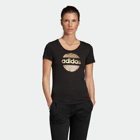 全品送料無料! 11/12 11:00〜11/18 09:59 【公式】アディダス adidas W 半袖 リニア サークル グラフィック Tシャツ レディース ウェア トップス Tシャツ DX2540