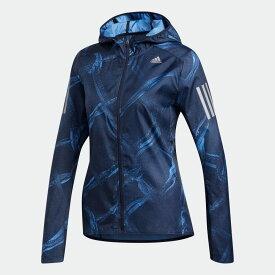 【公式】アディダス adidas ランニング オウン ザ ラン グラフィック ジャケット [OWN THE RUN GRAPHIC JACKET] レディース ウェア アウター ジャケット 青 ブルー DZ2011 ランニングウェア