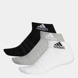 【公式】アディダス adidas ジム・トレーニング クッション アンクル ソックス 3足組み [Cushioned Ankle Socks 3 Pairs] レディース メンズ アクセサリー ソックス アンクルソックス グレー DZ9364