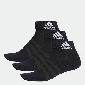 【公式】アディダス adidas ジム・トレーニング クッション アンクル ソックス 3足組み [Cushioned Ankle Socks 3 Pairs] レディース メンズ アクセサリー ソックス アンクルソックス 黒 ブラック DZ9379