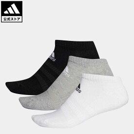 【公式】アディダス adidas 返品可 ジム・トレーニング クッション ローカット ソックス 3足組み [Cushioned Low-Cut Socks 3 Pairs] レディース メンズ アクセサリー ソックス・靴下 シューズインソックス グレー DZ9383