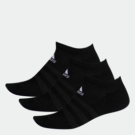 【公式】アディダス adidas ジム・トレーニング クッション ローカット ソックス 3足組み [Cushioned Low-Cut Socks 3 Pairs] レディース メンズ アクセサリー ソックス シューズインソックス 黒 ブラック DZ9385