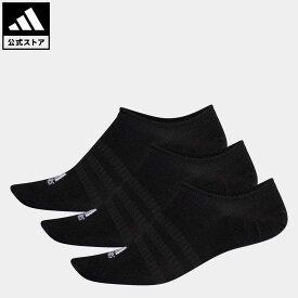 【公式】アディダス adidas 返品可 ジム・トレーニング ノーショー ソックス 3足組み [No-Show Socks 3 Pairs] レディース メンズ アクセサリー ソックス・靴下 シューズインソックス 黒 ブラック DZ9416