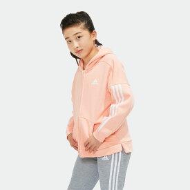 【公式】アディダス adidas G SPORT ID スウェットフルジップフーディー (裏起毛) キッズ ガールズ ウェア トップス パーカー