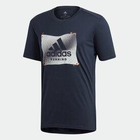 【公式】アディダス adidas グラフィックTシャツ [Own the Run Badge of Sport Graphic Tee] メンズ ランニング ウェア トップス Tシャツ ED6153 ランニングウェア