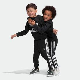 全品送料無料! 03/04 20:00〜03/11 09:59 【公式】アディダス adidas クルー スウェットシャツ セットアップ / Crew Sweatshirt Set オリジナルス キッズ ウェア セットアップ ジャージ 黒 ブラック ED7728 上下 p0304