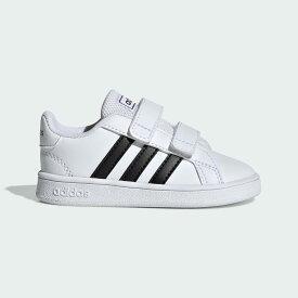 【公式】アディダス adidas テニス 子供用 グランドコート [Grand Court Shoes] レディース メンズ シューズ スポーツシューズ 白 ホワイト EF0118 テニスシューズ スパイクレス