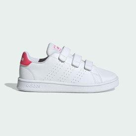 【公式】アディダス adidas テニス 子供用 アドバンテージ [Advantage Shoes] レディース メンズ シューズ スポーツシューズ 白 ホワイト EF0221 テニスシューズ スパイクレス