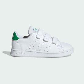 【公式】アディダス adidas テニス 子供用 アドバンテージ [Advantage Shoes] レディース メンズ シューズ スポーツシューズ 白 ホワイト EF0223 スパイクレス テニスシューズ