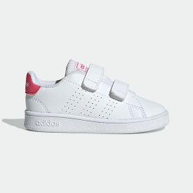 【公式】アディダス adidas テニス 子供用 アドバンテージ [Advantage Shoes] レディース メンズ シューズ スポーツシューズ 白 ホワイト EF0300 スパイクレス テニスシューズ