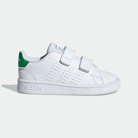 【公式】アディダス adidas テニス 子供用 アドバンテージ [Advantage Shoes] キッズ シューズ スポーツシューズ 白 ホワイト EF0301 テニスシューズ スパイクレス