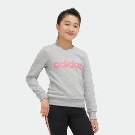 【公式】アディダス adidas ジム・トレーニング リニア スウェットシャツ / Linear Sweatshirt レディース ウェア トップス スウェット グレー EH6156 p0122