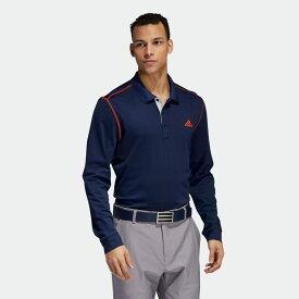 【公式】アディダス adidas ゴルフ グラデーションボーダー 長袖ポロ【ゴルフ】 / Thermal Polo Shirt メンズ ウェア トップス ポロシャツ 青 ブルー DX4938 p1126