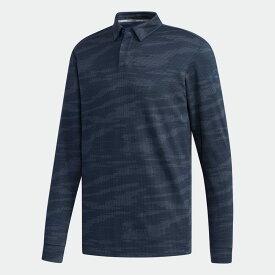 【公式】アディダス adidas ゴルフ カモパターンジャカード 長袖ボタンダウンシャツ【ゴルフ】 / Polo Shirt メンズ ウェア トップス ポロシャツ 青 ブルー EH3646 p1126