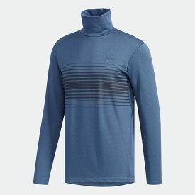 【公式】アディダス adidas ゴルフ クライマウォーム チェストプリント 長袖タートルネックシャツ【ゴルフ】 / L/S T/N SHIRTS メンズ ウェア トップス ポロシャツ 青 ブルー EH3657 p1126