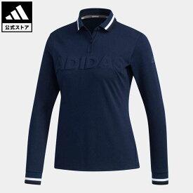 【公式】アディダス adidas ゴルフ ADIDASロゴ 長袖ポロ【ゴルフ】 / Polo Shirt レディース ウェア トップス ポロシャツ 青 ブルー EH3839