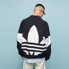 【公式】アディダス adidas ビッグ トレフォイル トラックジャケット(ジャージ) オリジナルス レディース メンズ ウェア トップス ジャージ 黒 ブラック FM9892 valentine p1030