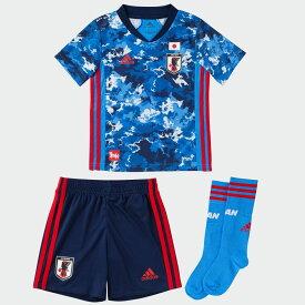 【公式】アディダス adidas サッカー日本代表 2020 ホーム ユニフォーム ミニキット / Japan Home Mini Kit キッズ ボーイズ&ガールズ サッカー ウェア セットアップ ユニフォーム ED7354