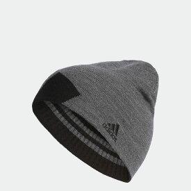 【公式】アディダス adidas ゴルフ ボールドストライプリバーシブルビーニー【ゴルフ】 メンズ アクセサリー 帽子 ニット帽/ビーニー グレー U31571